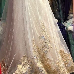 Dresses Cream And Gold Wedding Dress Poshmark